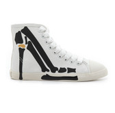Be & D Skeleton Stiletto High Top Sneaker