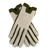 Dents Ladies Crochet Back Driving Gloves (Olive)
