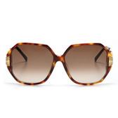 Linda Farrow Luxe Oversize Tortoise Sunglasses