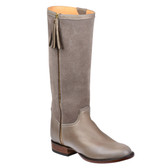 Lucchese Sharon Suede Riding Boot (Dark Grey)