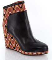 Missoni Leather Ankle Wedge Bootie