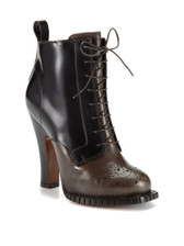 Rochas Nagoya Lace-Up Bootie (Brown)