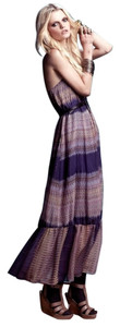 Twelfth St by Cynthia Vincent Strapless Ikat Ruffle Midi Dress