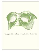 BellaMuse 'Lunatic Birthday' Letterpress card
