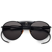 Proenza Schouler Limited Edition Round Aviators (Black)
