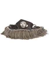 Goti Silver Fringe Leather Bracelet