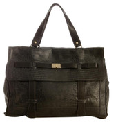 Be & D Stamped Lizard Celia Satchel