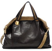 Be & D Lambskin Leather Convertible Satchel