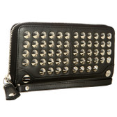 Be & D Large Garbo Studded Wallet (Black)