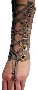 Cavender Metalworks Knitted Metal Mesh Long Corset Cuff