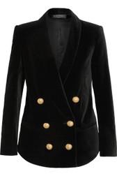 Balmain Double-Breasted Velvet Jacket