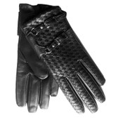 Hilts-Willard Ladies Woven Lambskin Gloves (Black)