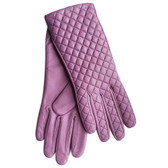 Hilts-Willard Ladies Quilted Lambskin Gloves (Lavender)