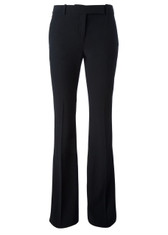 Alexander McQueen Fitted Crepe Bootcut Pants