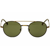 John Varvatos Renwick Leather Aviator Sunglasses (Olive)