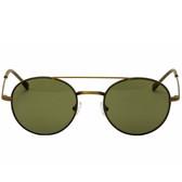 John Varvatos Renwick Leather Aviator Sunglasses (Olive)