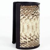 Genuine Glazed Python Snakeskin Wide Cuff
