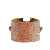 Swarovski Crystal Beaded Leather Cuff