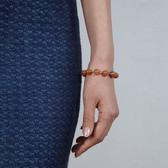 Silver Carnelian Bead Bracelet