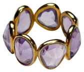 18k Yellow Gold Amethyst Rock Candy Eternity Band