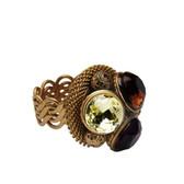 Cavender Metalworks Knitted Mesh Gemstone Cocktail Ring