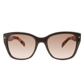 Prada PR09SS Sunglasses (Brown/Red Stripe Tort)