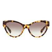 Prada PR08SS Cat Eye Sunglasses (Blond Tort)