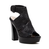 Pour la Victoire Laina Woven Platform Sandal (Black)