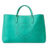 Anya Hindmarch Smiley Python Tote Bag (Aqua)
