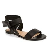 Pour la Victoire Lava Ankle-Tie Sandal (Black)