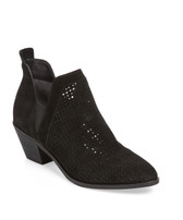 Sigerson Morrison Suede Perforated Bootie (Black)