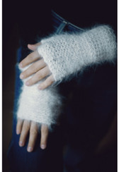 Ambika English Angora Fur Fingerless Gloves