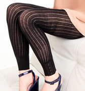 French Curve Ribbed Leggings