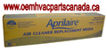 Aprilaire Part # 201 For 2200, 2210 High Efficiency Merv 10 Spacegard Filters Package of 2.