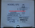 """LAWLER THERMOSTATIC MIXING VALVE 1/2"""" MODEL 570 008682100"""