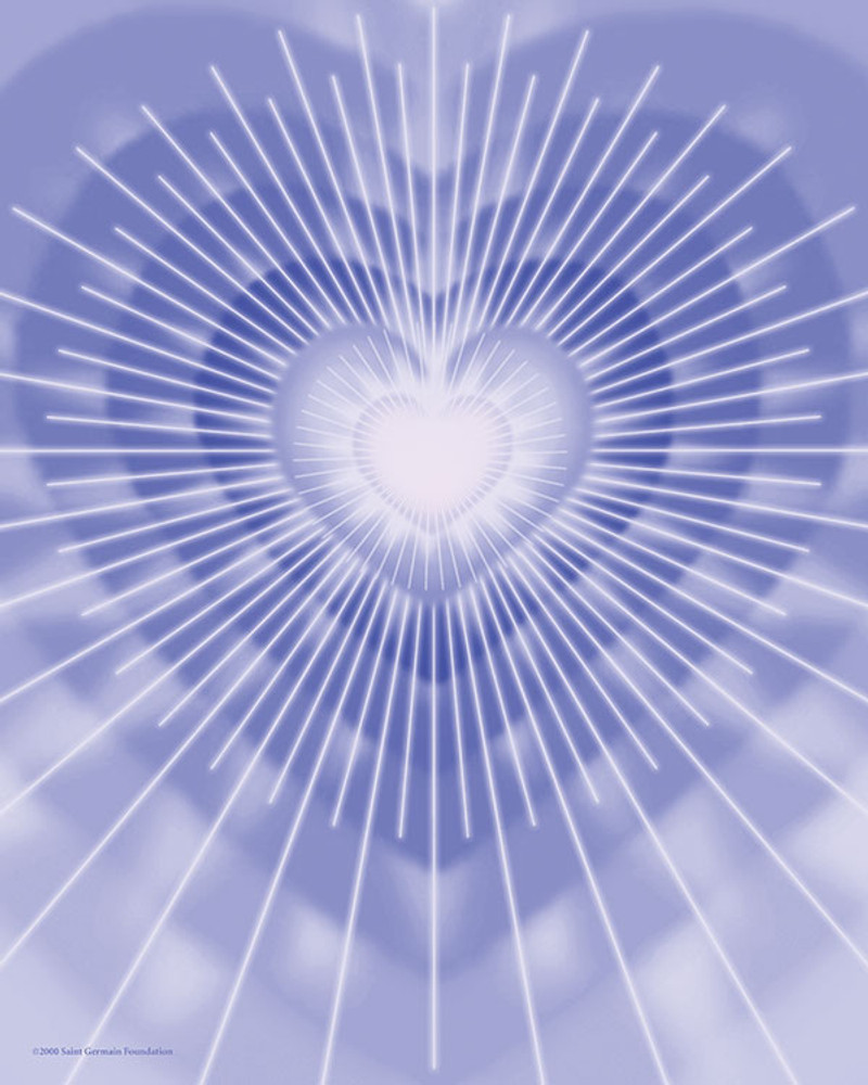 Violet Healing Heart