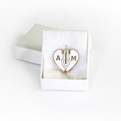 I AM Emblem - White Pin-Pendant
