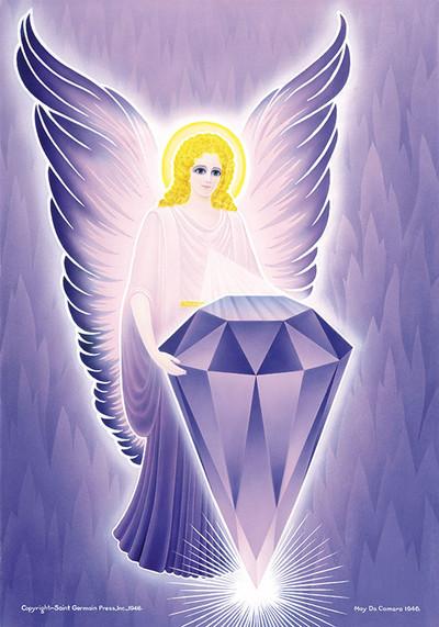 Violet Flame Angel Amethyst Gem