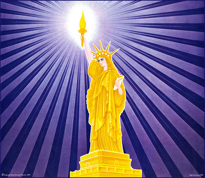 Goddess of Liberty - violet rays