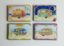 Vintage Travel Trailer Magnets