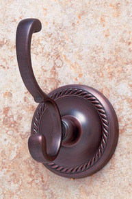 JVJ 24708 Roped Series Old World Bronze Deco Robe Hook