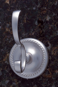 JVJ 23608 Roped Series Satin Nickel Deco Robe Hook