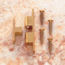 JVJ 06401 Raw Solid Brass Finish Tension Catch