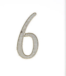 "JVJ 00639 4"" Satin Nickel Finish Zinc Alloy House Number ""6"" and ""9"""