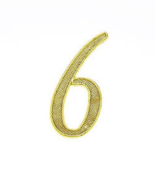 "JVJ 00637 4"" Polished Brass Finish Zinc Alloy House Number ""6"" and ""9"""