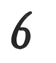 "JVJ 00615 4"" Black Finish Zinc Alloy House Number ""6"" and ""9"""