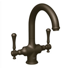 Grohe 31055ZB0 Bridgeford High Profile Two Handle Single Hole Bar Prep Faucet Less Handles - Oil Rubbed Bronze