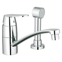 Grohe 31136000 Eurosmart Cosmopolitan Single Handle Kitchen Faucet With Side Spray - Chrome
