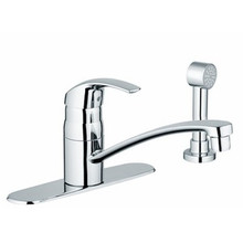 Grohe 31352001 Eurosmart Single Handle Kitchen Faucet With Side Spray - Chrome