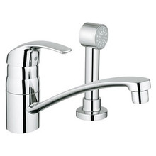 Grohe 31134001 Eurosmart Single Handle Kitchen Faucet With Side Spray - Chrome